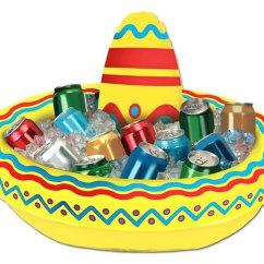 Miniature Kitchen Utensils Suites Inflatable Sombrero Cooler - The Green Head