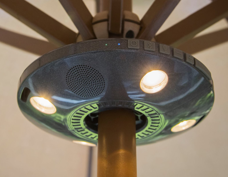ion audio patio mate umbrella light