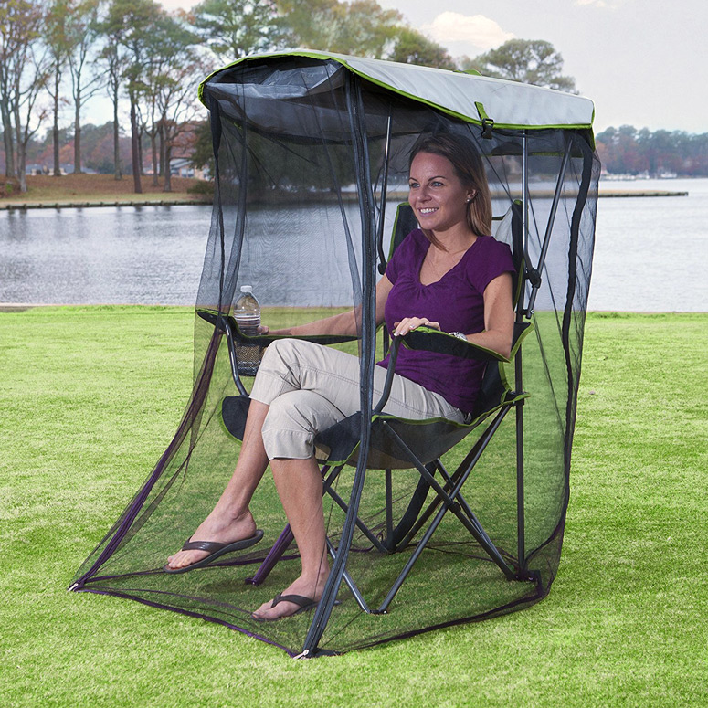 chair with canopy custom covers kelsyus removable mosquito bug net