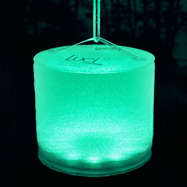 Luci Aura  Inflatable ColorChanging Solar Lantern  Mood