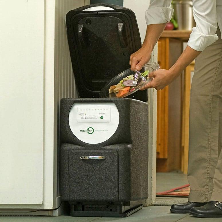 kitchen composter epoxy floor naturemill plus automatic