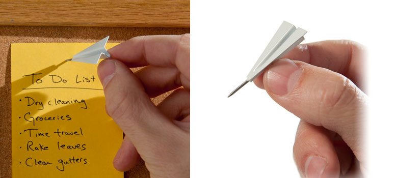 Paper Airplane Push Pins  The Green Head