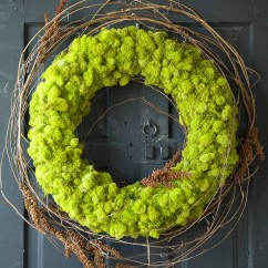 Kitchen Timers Shun Knives Preserved Reindeer Moss Wreath - The Green Head