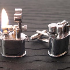Kitchen Wall Phones Cabinet Trash Can Real Working Vintage Lighter Cufflinks - The Green Head