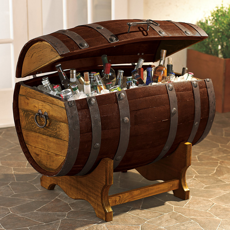 Reclaimed Tequila Barrel Ice Chest  The Green Head
