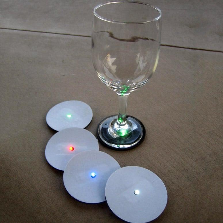 Reusable LED Wine Glass Base Lights
