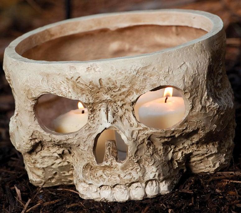 Skull Votive Candle Holder