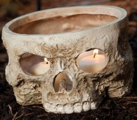 Skull Votive Candle Holder - The Green Head
