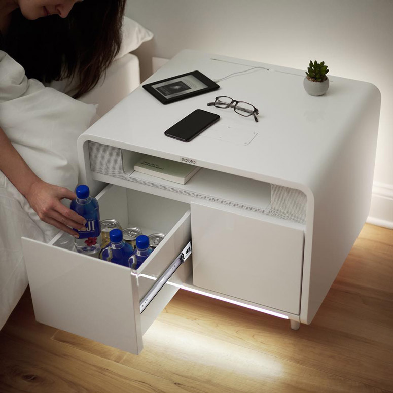 sobro smart side table wireless