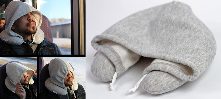 Travel HoodiePillow  Hooded Travel Pillow  The Green Head