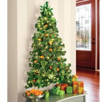 Wall-Hanging Pre-Lit Christmas Tree | The Green Head