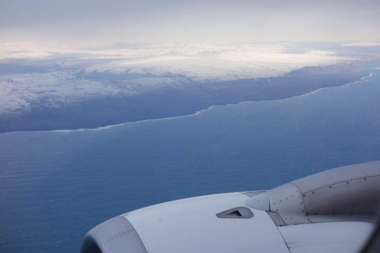 plane view iceland