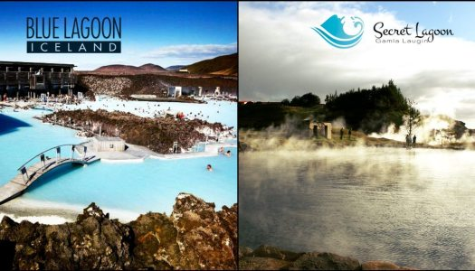 Iceland: the Blue Lagoon vs the Secret Lagoon