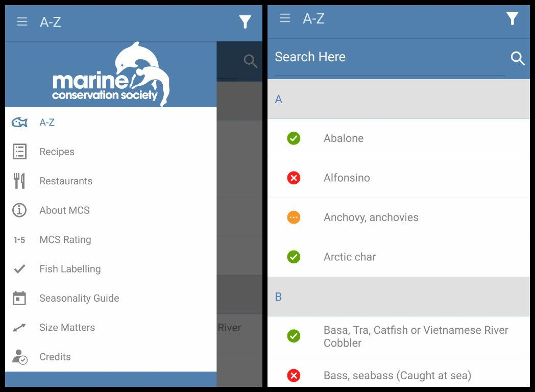 marine conservation app sustainable fishing guide