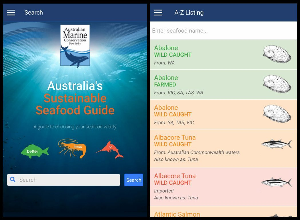 seafood guide app sustainable fishing guide