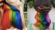 hidden rainbow hair perfect