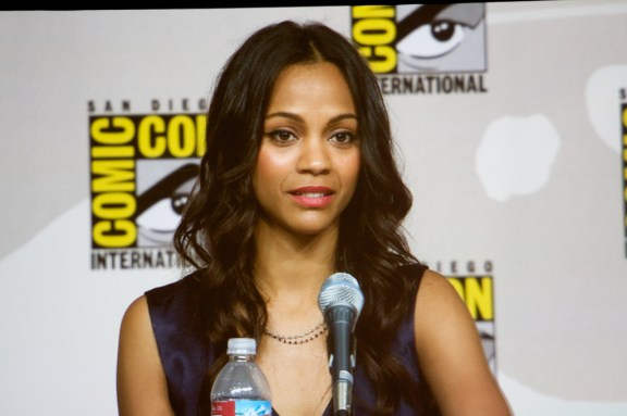 """Zoe Saldaña at the """"Entertainment Weekly: Wonder Women: Female Power Icons in Pop Culture"""" panel. Comic-Con 2009"""