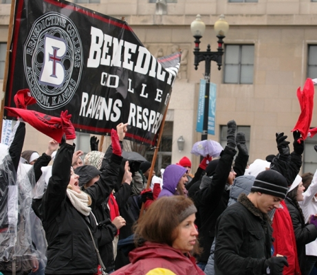 Benedictine College sends more students from further away to the March than any other Catholic university.