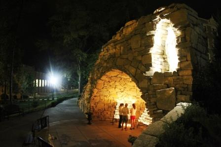2. Mary's Grotto was built in 2008, the 150th anniversary of both Benedictine College and the apparitions of Our Lady of Lourdes.