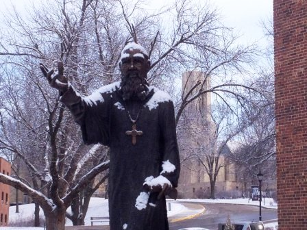 9. In 2011, the college unveiled an 8-foot-tall statue of St. Benedict by Kansas City artist and Benedictine College alumnus Tim Mispagel.