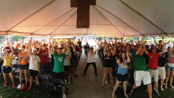 September 1, Beanie Retreat: Hundreds attended Benedictine College Ministry's SPO tent retreat for Freshmen.