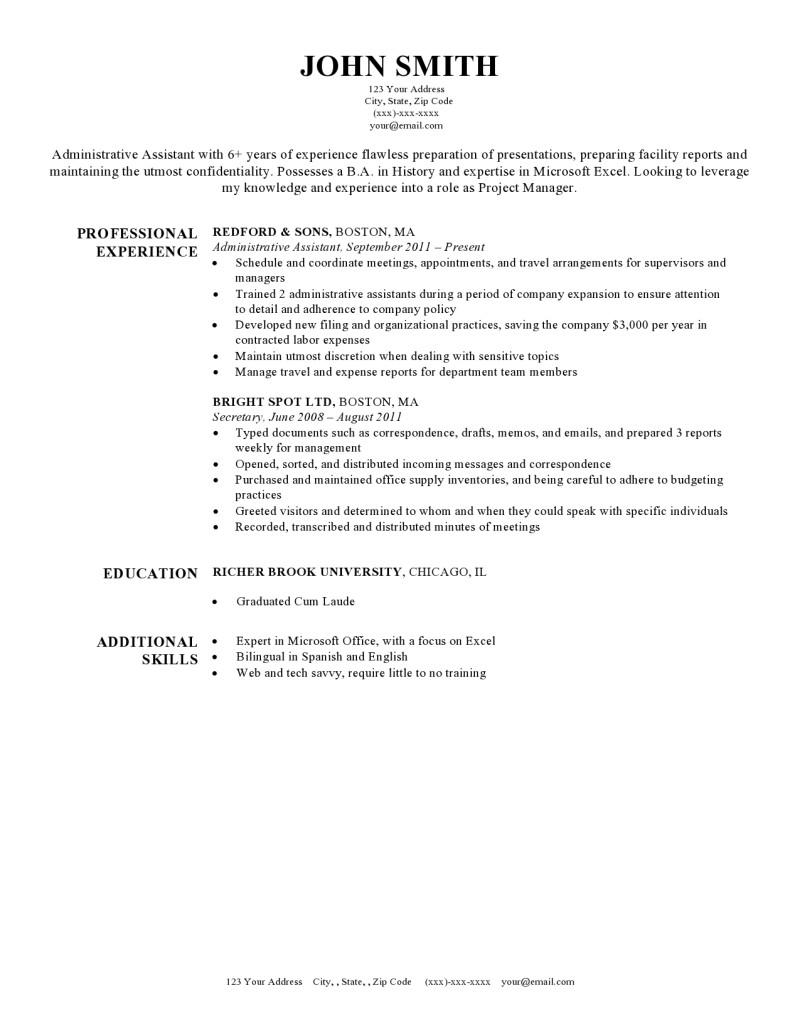 harvard university resume template