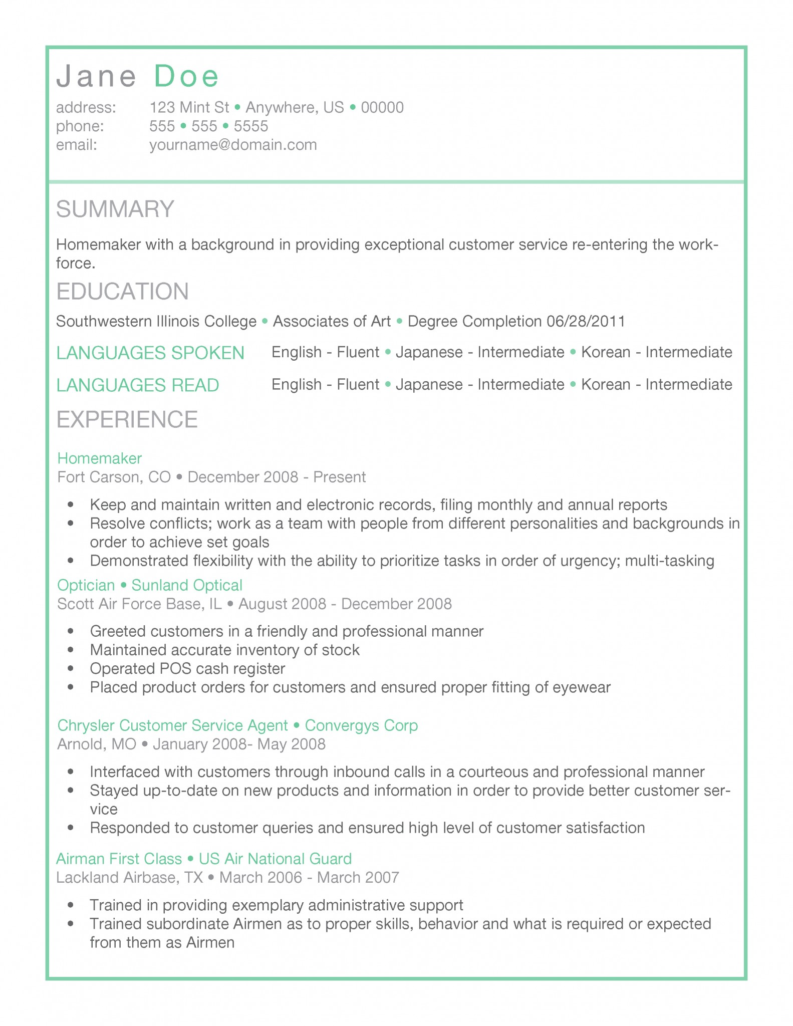 Box Of Mint Resume Template By Thegridsystem