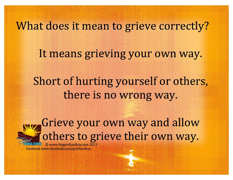 What does it mean to grieve correctly | The Grief Toolbox