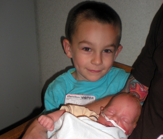 Biggest brother and littlest brother