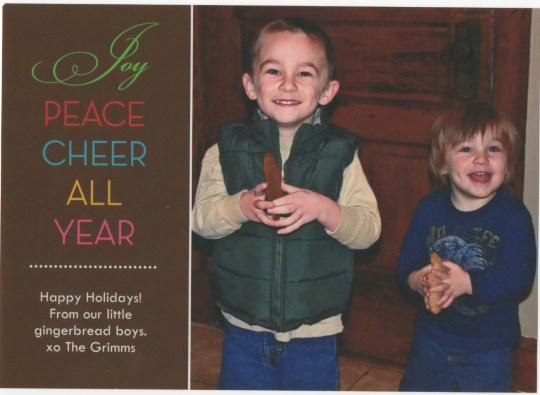 Grimm Christmas Card 2010