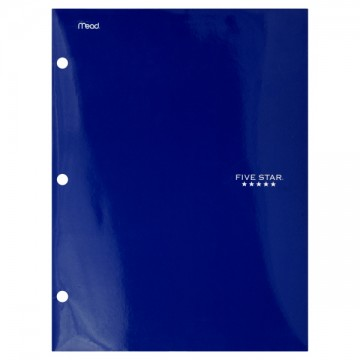 Mead Five Star Folder 3Hole Punch 125 X 95 Inch Colors