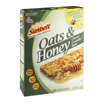 Sunbelt Chewy Granola Bars Oats amp Honey 8 ct