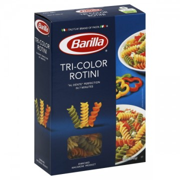 Barilla Pasta Rotini TriColor