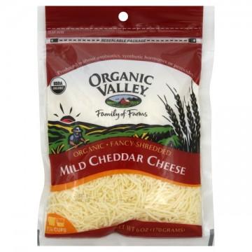 Organic Valley Cheese Cheddar Mild Shredded