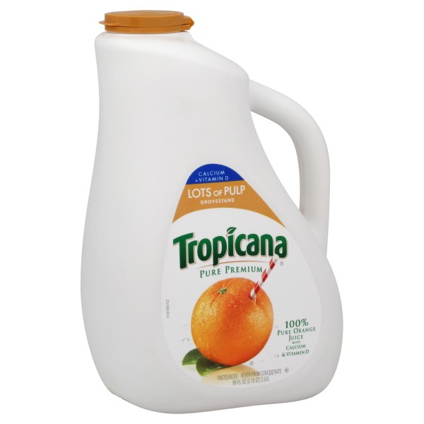 Tropicana Pure Premium 100 Pure Orange Juice Calcium High