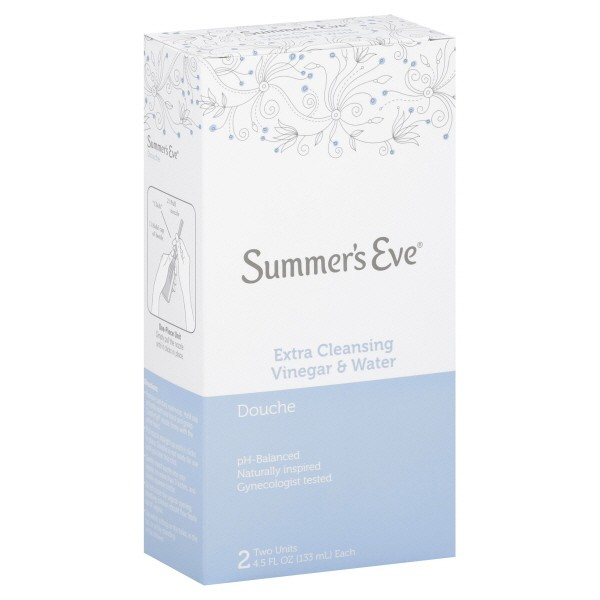 Summer's Eve Douche Extra Cleansing Vinegar & Water - 2 pk