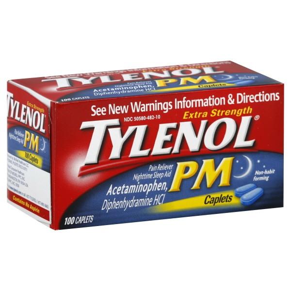 Tylenol PM Pain Reliever Nighttime Sleep-Aid Extra ...