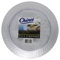 Chinet Cut Crystal Plates Plastic Clear 10 Inch