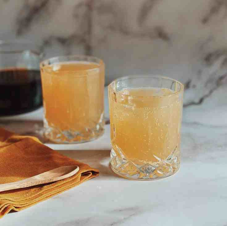 Pear Honey and Coffee Spritzer