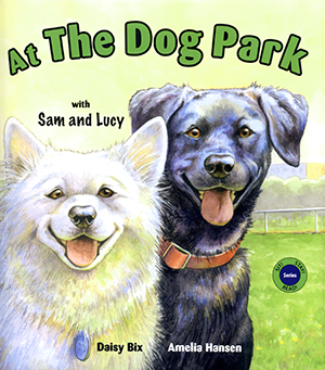 At the Dog Park wtih Sam and Lucy
