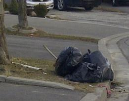 Garbage on the curb for more than a week in York Region