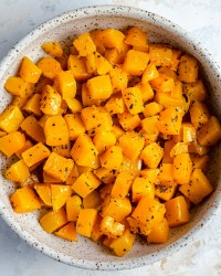 roasted butternut squash in a bowl