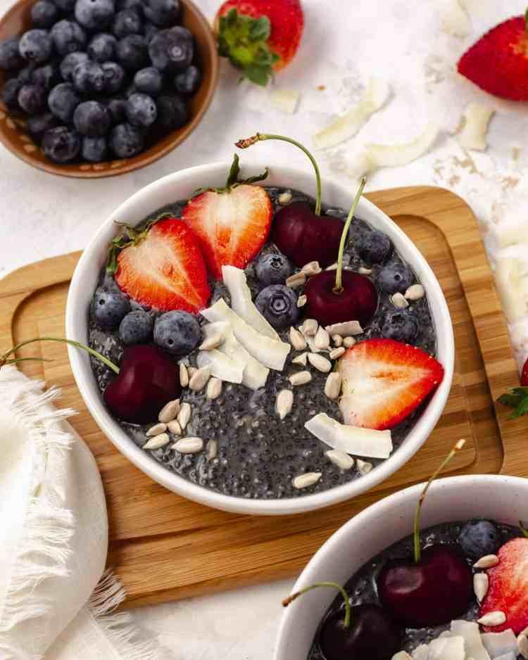 vegan and gluten-free chia pudding