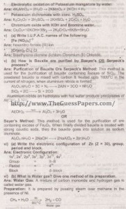 Chemistry Solved Past Paper 2nd year 2014 Karachi Board