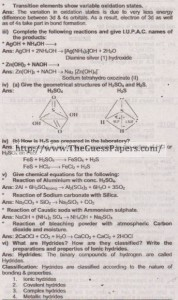 Chemistry Solved Past Paper 2nd year 2015 Karachi Board