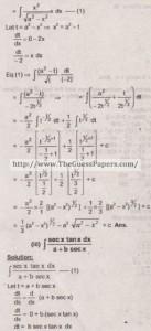 Mathematics Solved Past Paper 2nd year 2011 Karachi Board