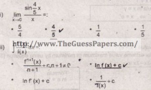 Mathematics Solved Past Paper 2nd year 2012 Karachi Board