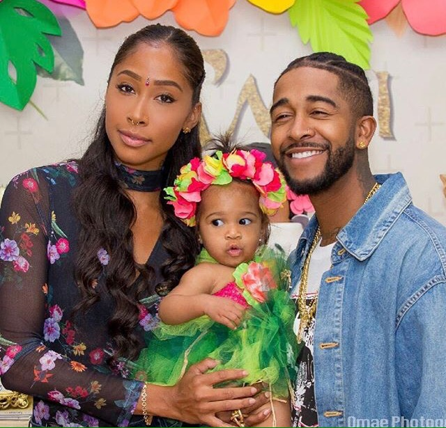Apryl Jones Omarion throw tribal birthday party for daughter A