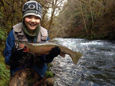 Oregon fishing trip Eagle Creek 2016