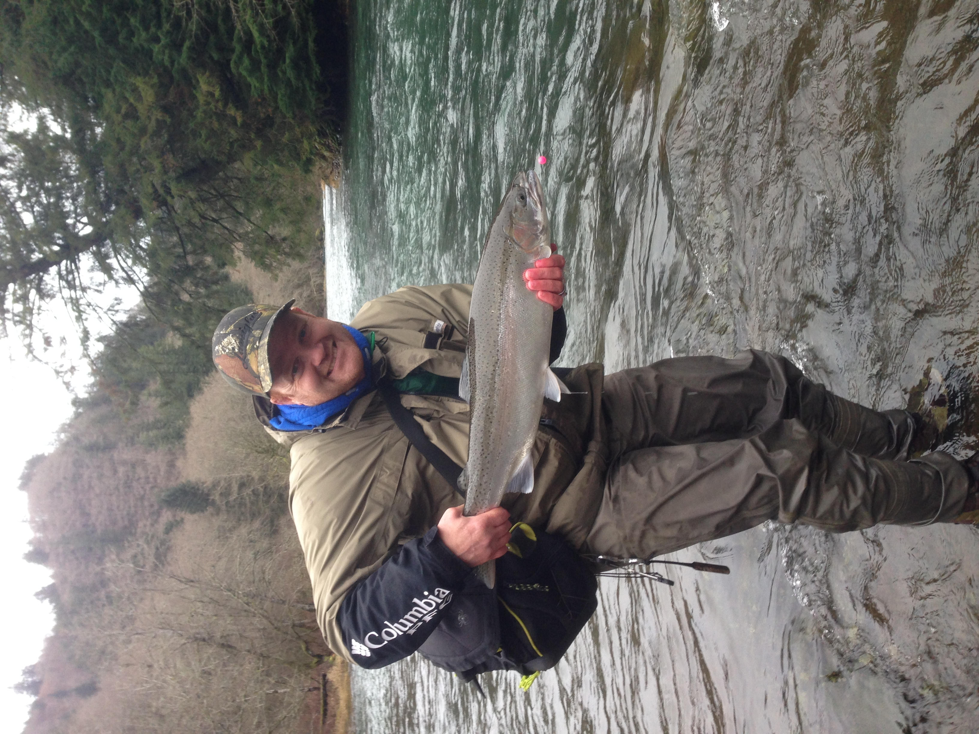 Let it snow let it snow let it snow oregon fishing for Trask river fishing report